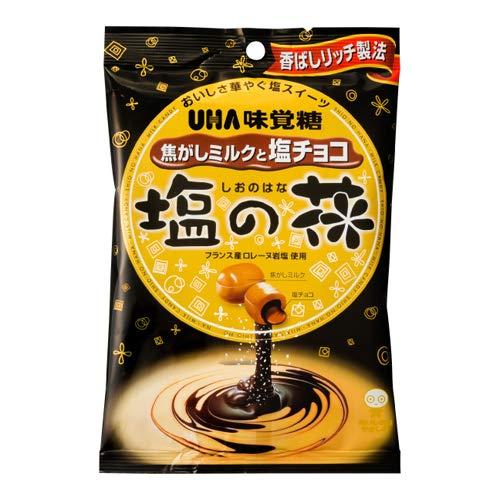 UHA味覚糖 塩の花 焦がしミルクと塩チョコ 80g 4コ入り