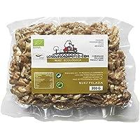 Nueces ecológicas peladas, deliciosas y saludables de Losquesosdemitio, crudas, sin sal añadida, cultivadas en España (una bolsa, 200g)