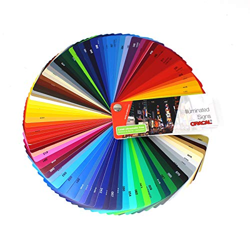 Farbfächer Plotterfolie Oracal Folie 970, 975, 951, 751 C, 651, 631/451 / 7510 Plott Folie Autofolie Werbung (Oracal 8500/8800)