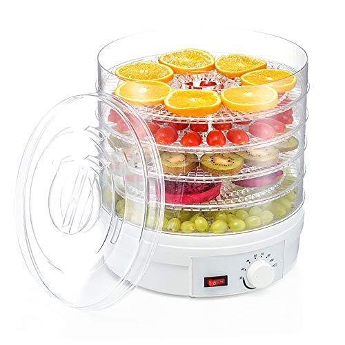 5 Stockwerke Elektrischer Dörrapparat Für Lebensmittel, Trockenfruchtmaschine Für Obst Und Gemüse, Ringförmige Blattventilatorsteckdose, Hoher Wirkungsgrad Und Mehr Energieeinsparung
