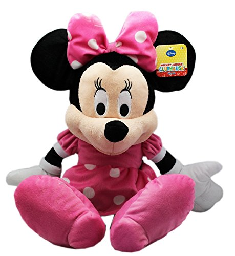 Disney Minnie Mouse-Poupée et Mini-Poupée-Peluche-Rose - 25 cm