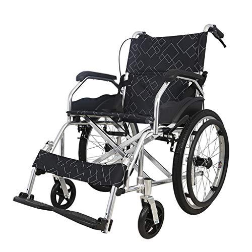 CIKO Rollstuhl Pannensichere Bereifung Duo-Armlehnen Faltrollstuhl Reiserollstuhl Rollstühle Für ?ltere Und Behinderte Menschen