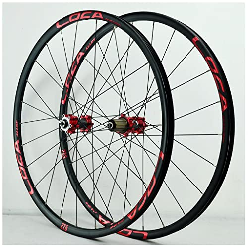VPPV Ruedas de Bicicleta MTB 27,5 Pulgadas Pared Doble Aleación Aluminio 29ER Ruedas Carretera 24 Hoyos Rodamiento Sellado Bicicleta Montaña 26 Pulgadas para 7/8/9/10/11 Velocidad (Size : 27.5 er)