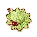 Alfiletero verde y rojo en forma de sombrero de ganchillo - Tamaño: ø 10.5 cm - Handmade - ITALY