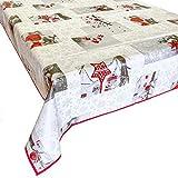 Mantel plastificado rectangular y cuadrado antimanchas – Mantel moderno de PVC con borde en diferentes diseños y tamaños para decoración de casa, jardín, fiestas de cumpleaños, estilo shabby
