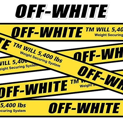 YMSD 5 metros de largo de la marea blanca conjunta marca etiqueta etiqueta etiqueta etiqueta de equipaje maleta decoración pared puerta vidrio etiqueta