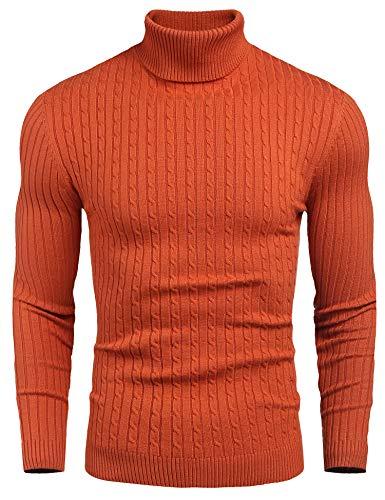 Men's Turtleneck Sweaters Cable Knit