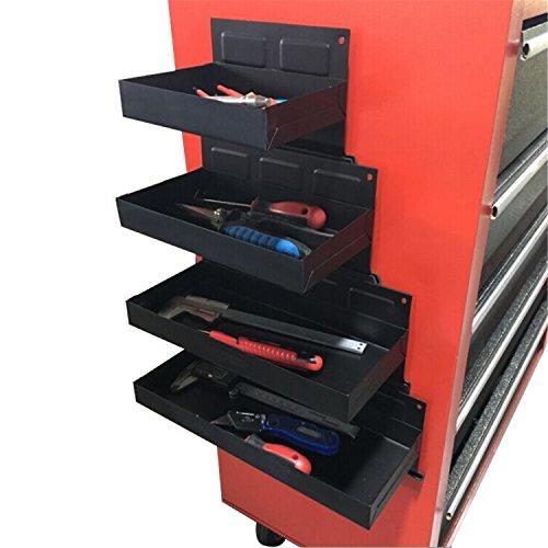 CCLIFE 4tlg Magnet Ablagen Dosenhalter Werkstatt Magnethalter Werkzeugwagen Halterung | Länge: 150-210-270-310mm