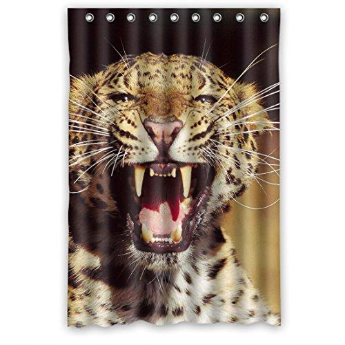 DOUBEE Personalisiert Fashion Leopard Wasserdichtes Duschvorhänge Shower Curtain 48