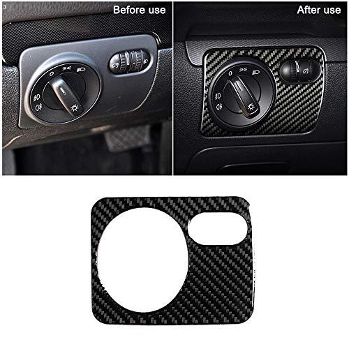 Blossion Pegatinas para coche VW Golf 6 2008-2012 Gti R MK6 Scirocco para interior de cambio de engranajes CD Media Panel de ventilación de aire pegatina (nombre del color: interruptor de faros)