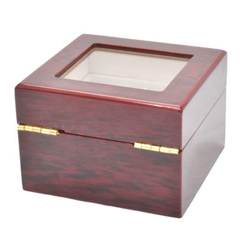 Pantalla transparente caja de ventana de joyería con tapa cojines desprendibles for hombres o mujeres reloj de la caja del sostenedor 2 Pantalla Organizador No hay Necesidad de Preocuparse por Ocupar: Amazon.es: