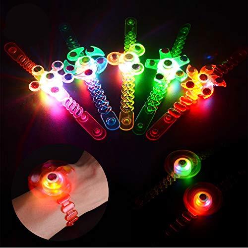 Herefun 12 Pcs LED Leuchtspielzeug Partyartikel LED Blinkleucht Armbänder, Kindergeburtstag Gastgeschenke, Jungen Mädchen Glow In The Dark Geburtstagsgeschenke Karneval Halloween Partyartikel Zubehör