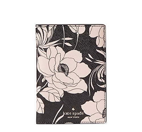 Kate Spade New York Laurel way Gardenia Passport Holder - Black Multi
