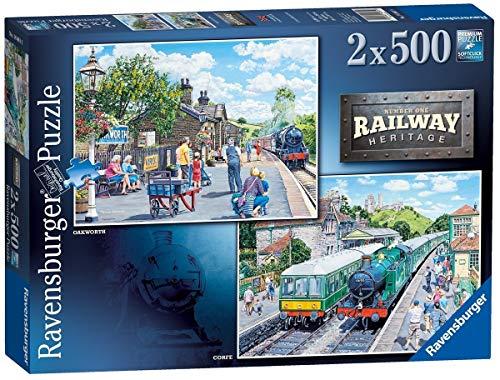 Ravensburger Railway Heritage No.1 - Corfe Station & Oakworth Station 2 x 500 Teile Puzzle