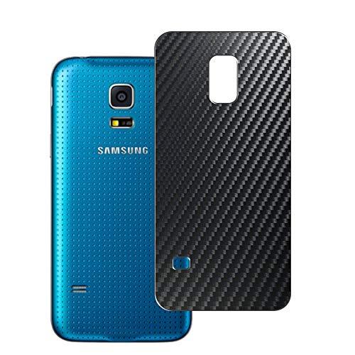 Vaxson 2 Unidades Protector de pantalla Posterior, compatible con Samsung Galaxy S5 Sport G860P, Película Protectora Espalda Skin Cover - Fibra de Carbono Negro