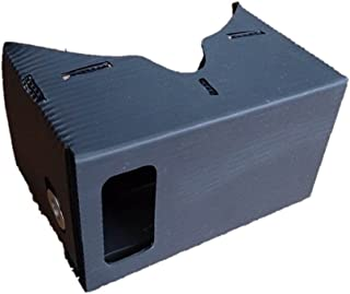 ブラック(黒)色 防水性段ボール製VR(Virtual Reality)ビューアキット NFCスマートタグ付:DIY Cardboard VR Viewer [並行輸入品]
