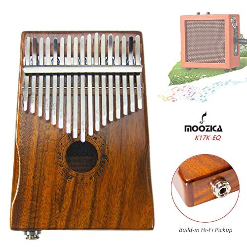 17 Key Thumb Piano,Solid Wood Electric Finger Piano with Tuning kit Hammer,Rubber Finger Guards- Best Birthday Gift for Music Fans Kids Adults