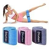 Haton Elastique Musculation en Tissu, Bande Elastique Fitness de 3 Niveaux de Force,...