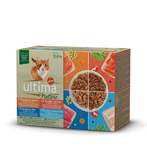 Ultima Nature Comida Húmeda para Gatos con Variedad de Pescados - 12 x 85gr - Total: 1.002gr