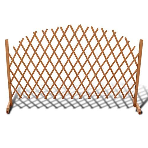 Daonanba Barriere Bois, Clôture en treillis Extensible pour Terrasse Jardin 180 X 100cm pour chien ou escaliers et portes (1 clôture de jardin)