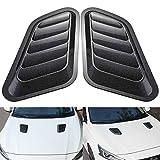 KATUR 1 Pair Universal Car ABS Decorative Air Flow Intake Scoop Turbo Bonnet Vent Cover Hood (Carbon Fiber)