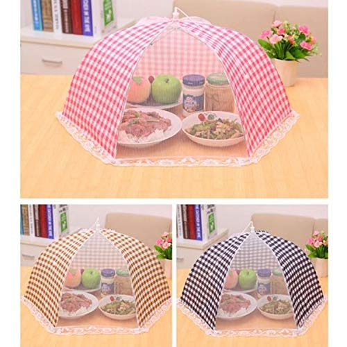 Bagonia Food Cover Tents Umbrella for Outdoors Reusable and Collapsible Random Color (2)