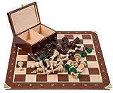 Square - Profesional Ajedrez de Madera Nº 5 - Francia - Tablero de ajedrez + Figuras - Staunton 5