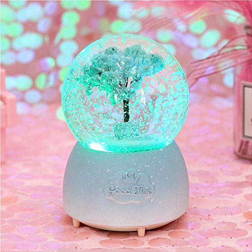 Cherry Blossom Crystal Ball Star Series Snowflake Colored Lights Waterball Girl's Heart Room Poses Gifts