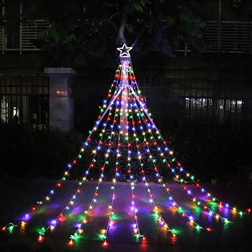 Christmas Decorations Outdoor Lights,16.4 ft 320 LED Star Christmas Tree Lights,8 Memory Lighting Modes&Timer Christmas Star Lights for...