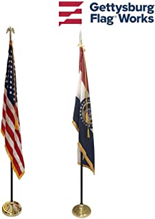 3x5' Missouri State Indoor Flag Set with 3x5' United States Indoor Flag Set for Display!