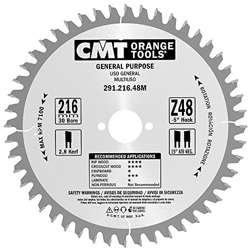 CMT Orange Tools 291,216.48 m-sega circulaire professionnelle 216 x 30 x 48 2.8 Z atb-5 degrés