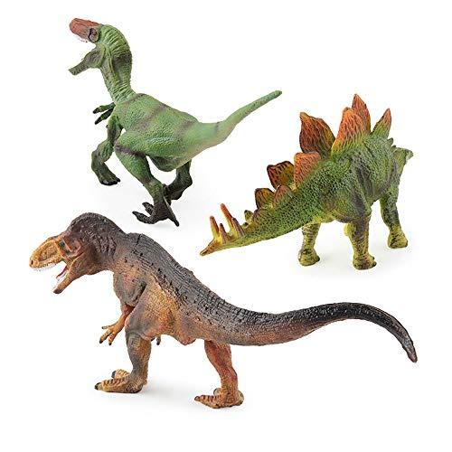 Hging Juegue Dinosaur 3 Pieza Jurassic World Toys Set Stegosaurus - Niños, niños, niños pequeños Altamente detallados, Juego de Juguetes realistas para los Amantes del Dinosaurio Favor