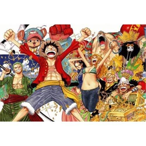 WUJINJ Cartoon Department 300/500/1000 Pieces One Piece legpuzzels, Straw Hat Pirate groep mensen puzzel, volwassenen houten puzzel games kind Puzzel (Color : A, Size : 300PC)