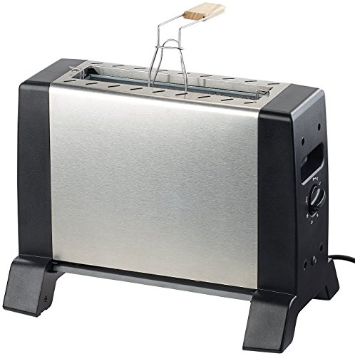 Rosenstein & Söhne Minibackofen: Vertikaler Infrarot-Tischgrill mit 24 x 18 cm Grillfläche & 1.000 Watt (Infrarot Grill)