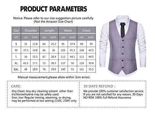 Cyparissus Men's Suit Vest Tuxedo Vest Formal Dress Vest for Men with Pockets