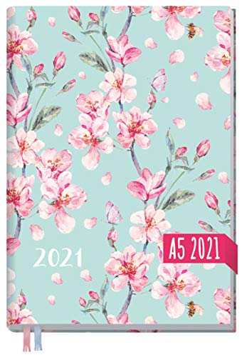 Chäff-Timer Classic A5 Kalender 2021 [Floral] mit 1 Woche auf 2 Seiten | Terminplaner, Wochenkalender, Organizer, Terminkalender mit Wochenplaner | nachhaltig & klimaneutral
