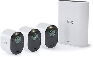 Arlo Ultra 4K - Sistema de seguridad y luz Smart (3 unidades recargable audio libre de cables con visión diurna/nocturna interior/exterior funciona con Amazon Alexa)