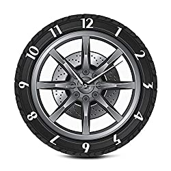 LNIMI Custom Your Garage Name Car Service Repair Garage Acrylic Wall Clock Tire Wheel Auto Watch Mechanic Car Workshop Decor
