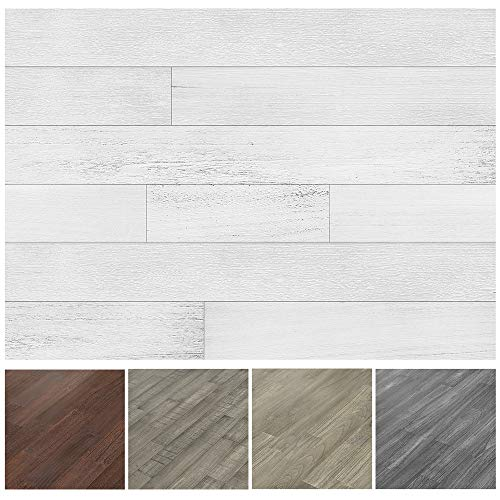 Art3d Peel and Stick Reclaimed Barn Wood Planks for Wall, White-Washed (16 Sq Ft)