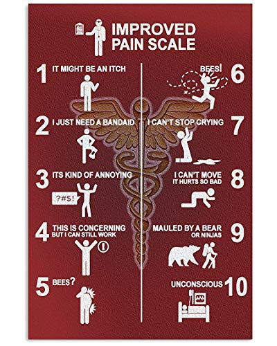 DORESADEKHI Massage Therapist Improved Pain Scale Funny Poster Wall Art Home Decor Gifts for Lovers Painting