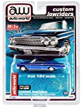 1962 Impala SS Convertible Blue Metallic Custom Lowriders Limited Edition to 4800 Pieces Worldwide 1/64 Diecast Model Car by Autoworld CP7662