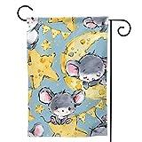 Nonebrand Fahnen Süße Mäuse auf beiden Gartenflaggen Hinterhof-Deko-Flaggen 12,5 'X18'