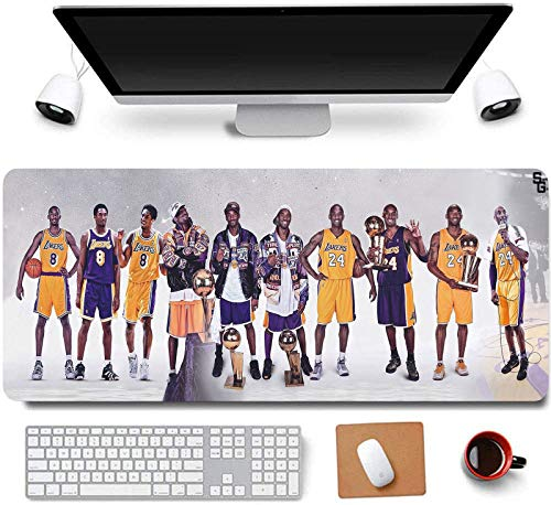 31.5x11.8 Inch Kobe Honor Long Extended Large Gaming Mouse Pad with Stitched Edges Computer Keyboard Mouse Mat