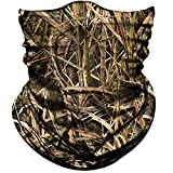 Obacle Camo Half Face Mask for Hunting Sun Dust Wind Protection Durable Camo Headband for Men Women, Seamless Lightweight Thin Breathable Mask for Outdoor Sports (Camo Grass Withered Light Brown)