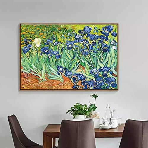 JHGJHK Pintura de Arte Pintura de Paisaje Flor Abstracta Pintura de Paisaje decoración de Interiores Pintura al óleo 1