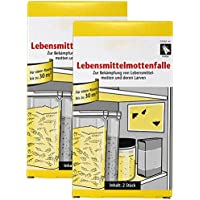 com-four® 4 trampas para polillas de Comida, Trampa para polillas y Larvas de Comida (04 Piezas - Trampa de Polilla de Comida)
