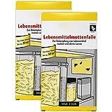 com-four® 4 trampas para polillas de Comida - Trampa para polillas y Larvas de Comida - para su Cocina (04 Piezas - Trampa de Polilla de Comida)