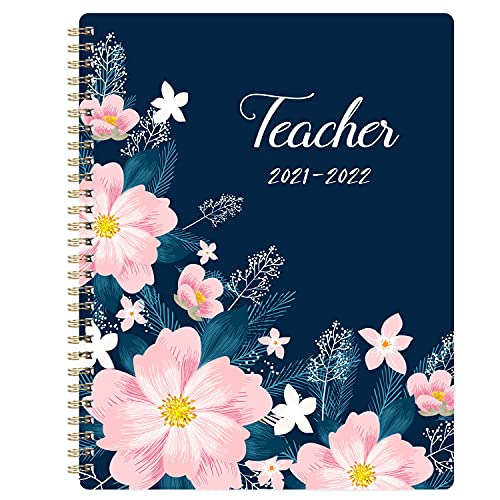 Teacher Planner 2021-2022 - Academic Lesson Planner from July 2021 - June 2022, 8'' x 10'', Lesson Plan Book, Weekly & Monthly Lesson Planner with Quotes