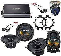 Compatible with Chevy CK Pickup 1995-2000 OEM Speaker Upgrade Harmony R5 R46 & CXA300.4 Amp (Renewed)