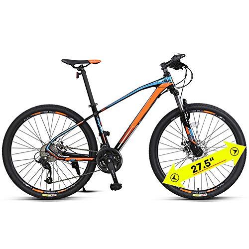 LDLL Mountain Bike, 27.5 Pulgadas Bicicleta de montaña, con neumáticos Resistentes y Frenos de Doble Disco, Frenos hidráulicos Bicicleta para Adultos